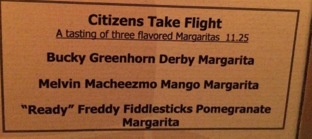Nevie's margarita flight
