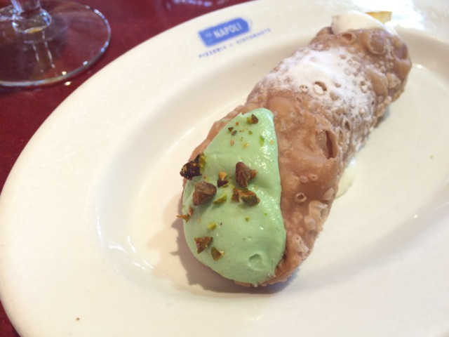 Cream & Pistachio Cannolo