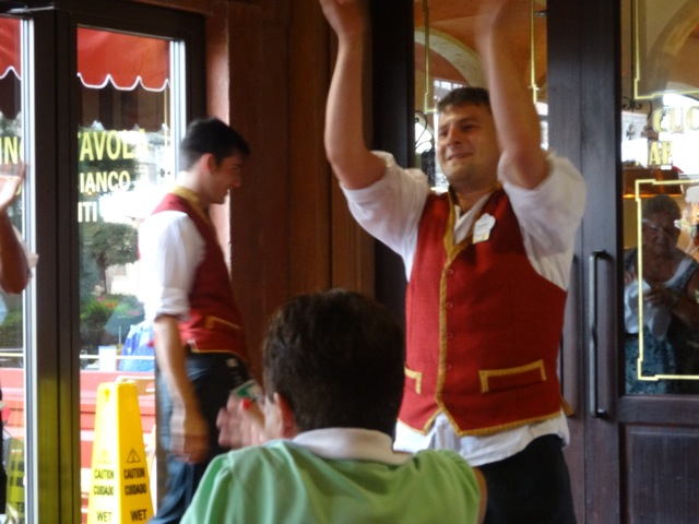 Before we left, one of the servers danced for us...