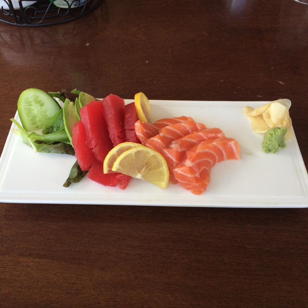 excellent sashimi at Splitsville 141011 - 1